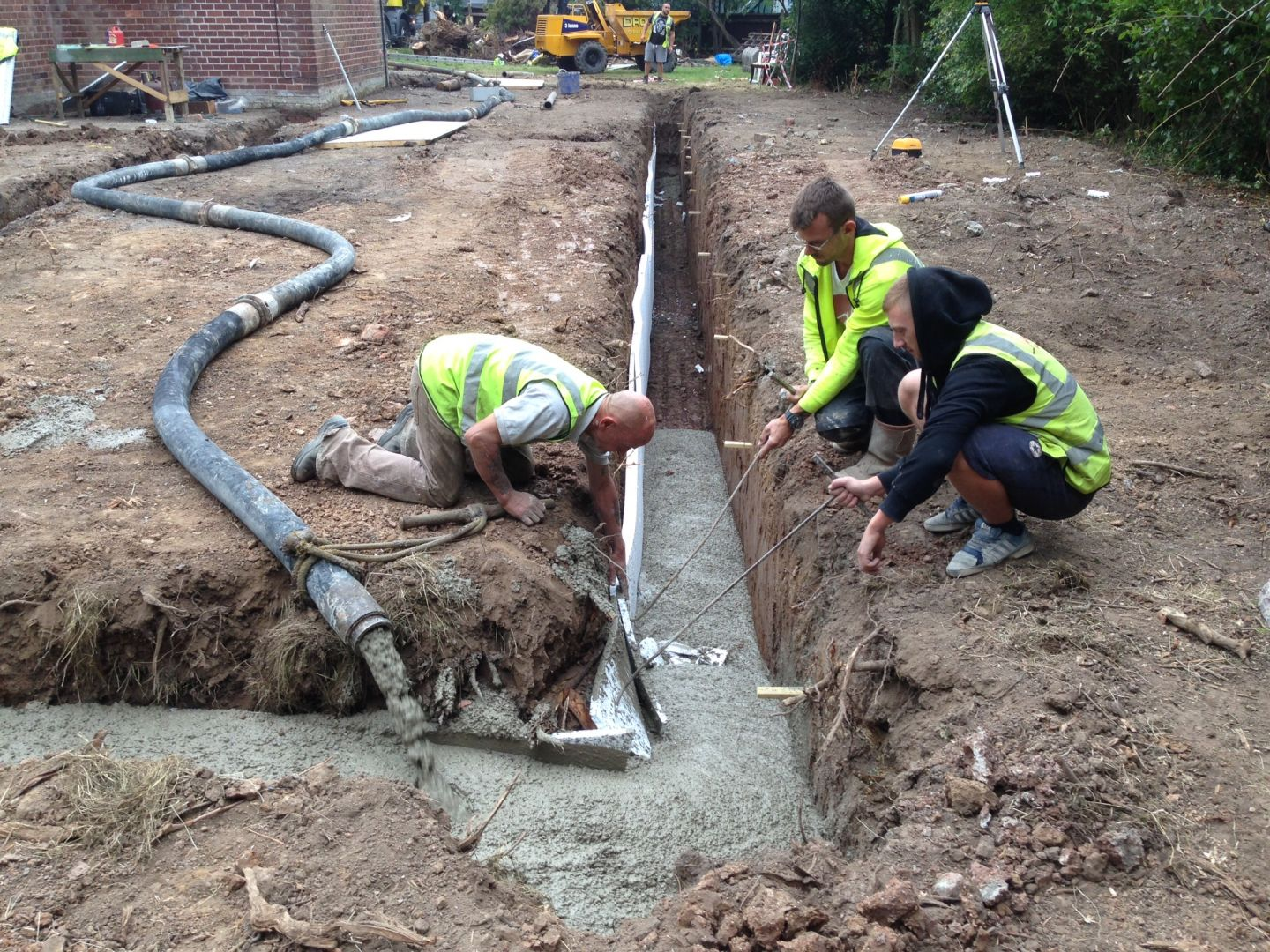 Concrete House Footings